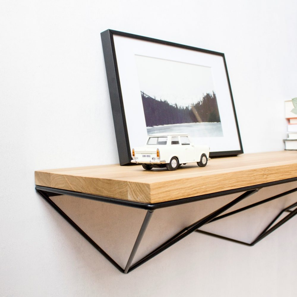 półka wisząca czarna