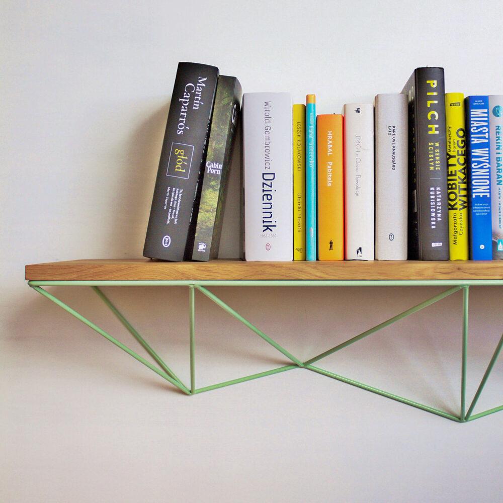 półka geometryczna na książki